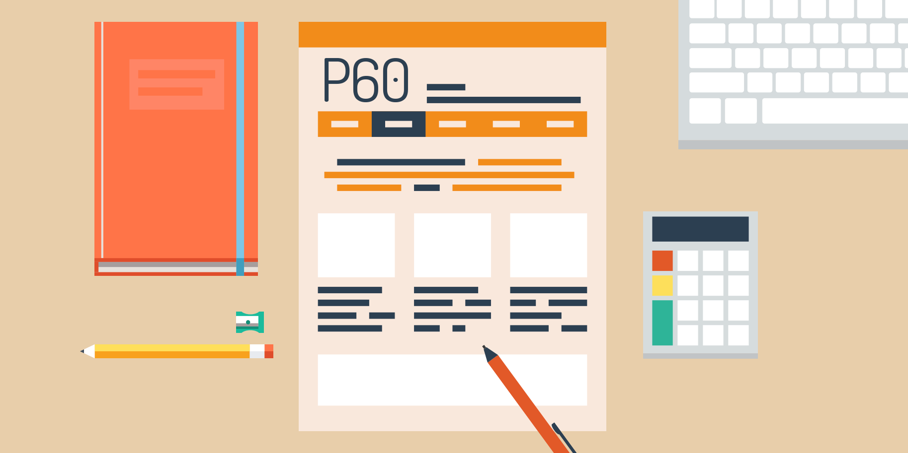 P60 on desk