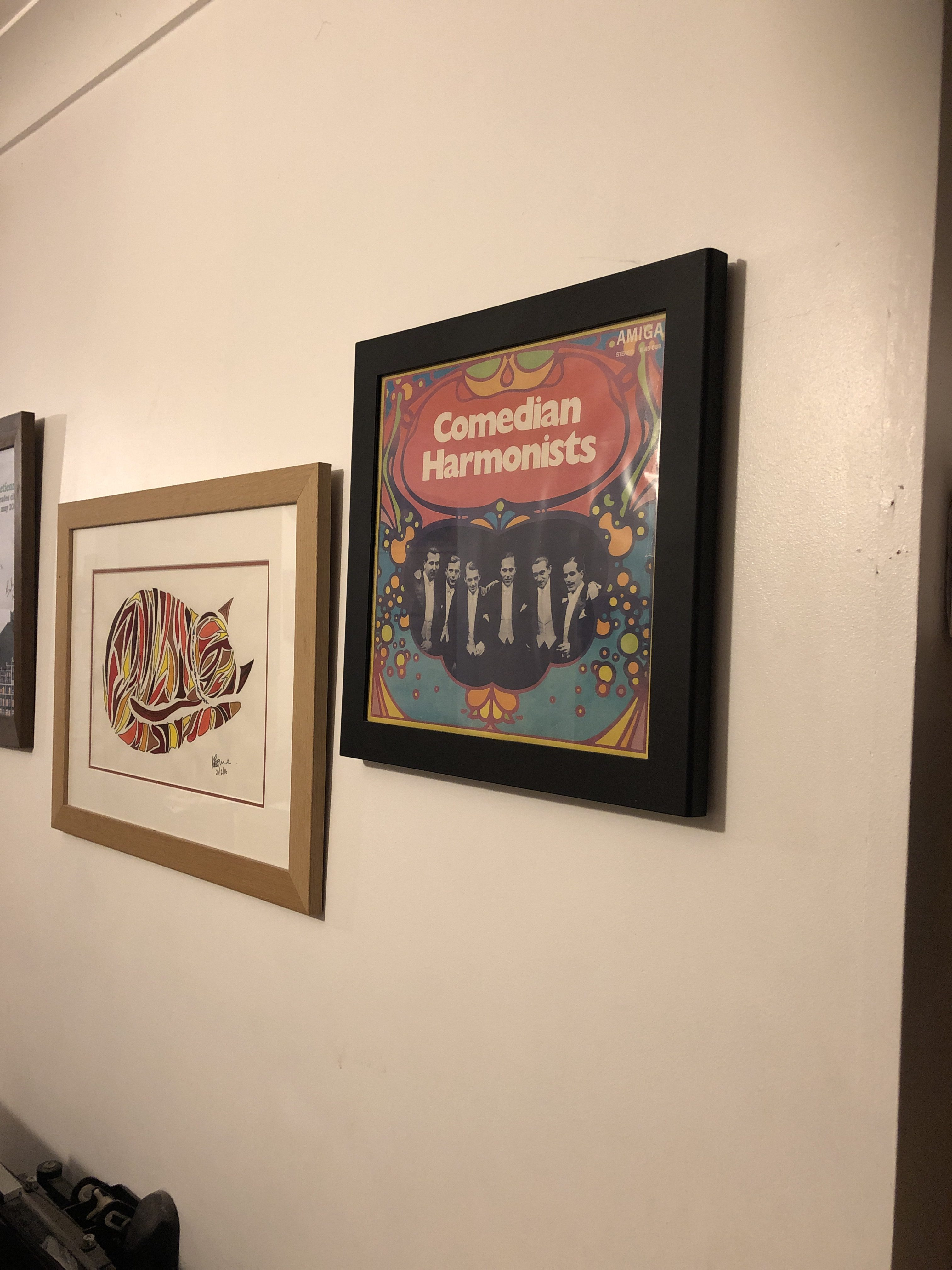 Comedian Harmonists LP on wall