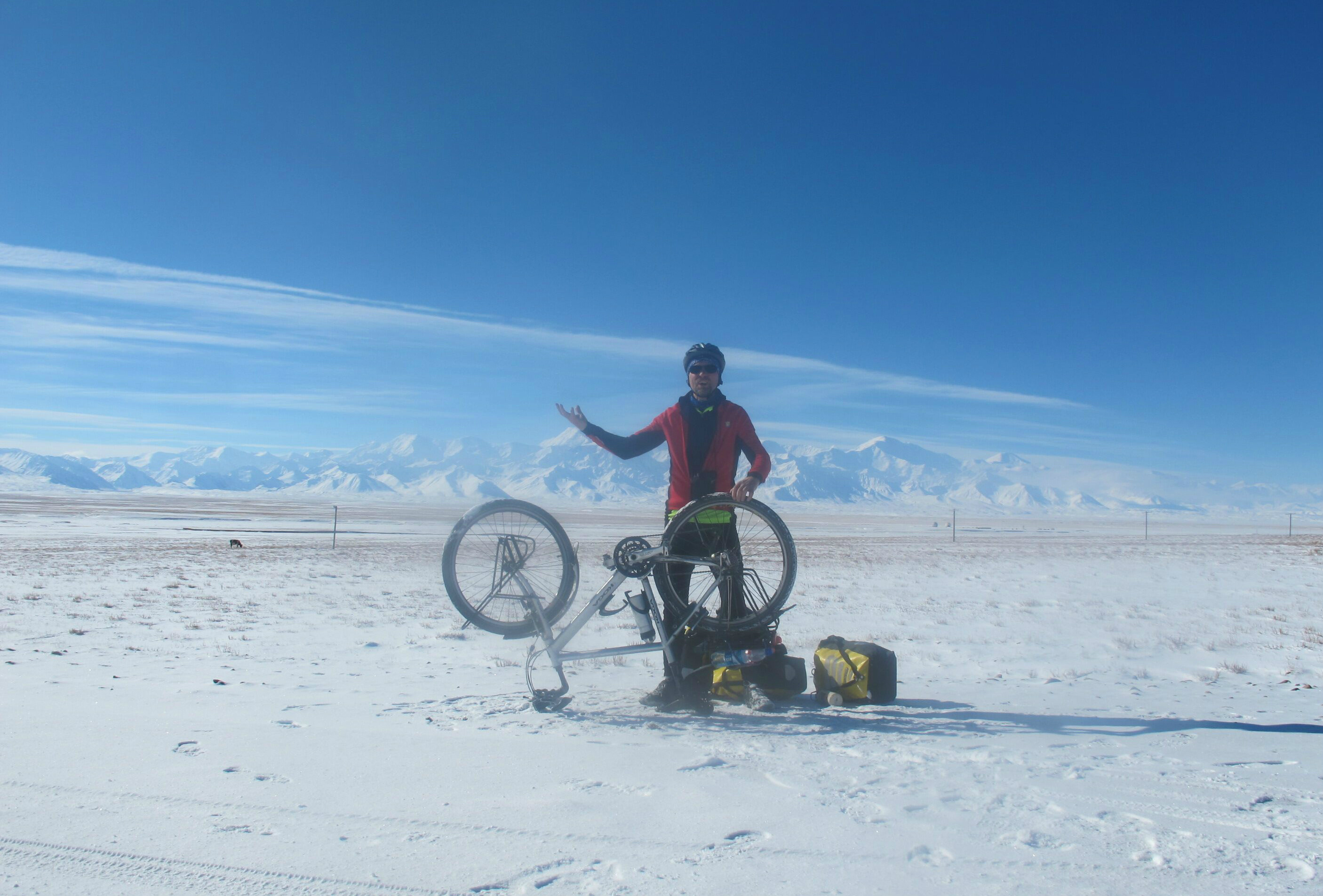 Puncture in Pamirs