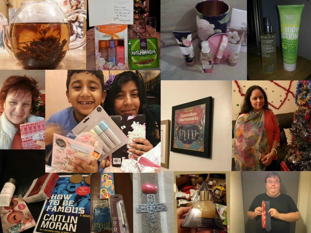 Secret Santa 2018 - collage of photos,